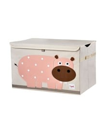 3 Sprouts - Toy Chest - Pink Hippo