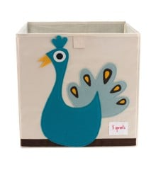 3 Sprouts - Storage Box - Blue Peacock