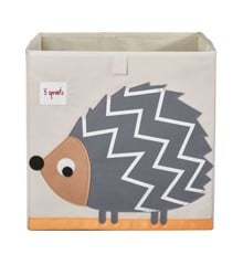 3 Sprouts - Storage Box - Gray hedgehog