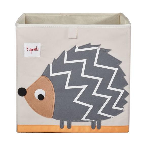 3 Sprouts - Storage Box - Gray hedgehog