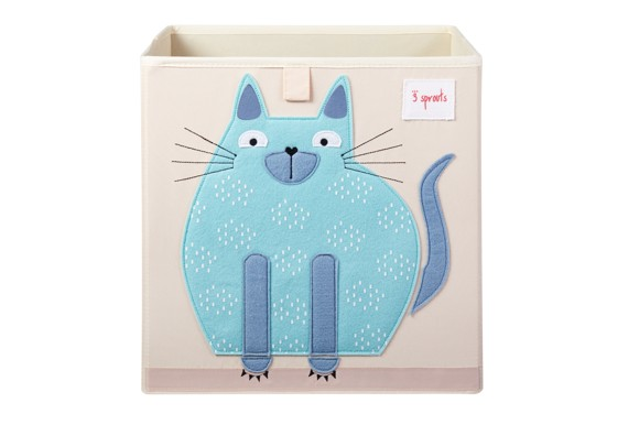 3 Sprouts - Storage Box - Blue Cat