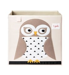 3 Sprouts - Storage Box - White Owl