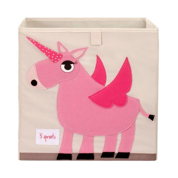 3 Sprouts - Storage Box - Pink Unicorn