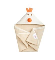 3 Sprouts - Håndklæde m. Hætte - Cream Chicken