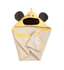 3 Sprouts - Håndklæde m. Hætte - Yellow Monkey