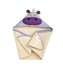 3 Sprouts - Hooded Towl - Purple Hippo