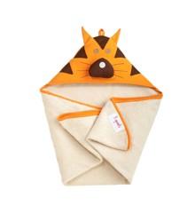 3 Sprouts - Håndklæde m. Hætte - Orange Tiger