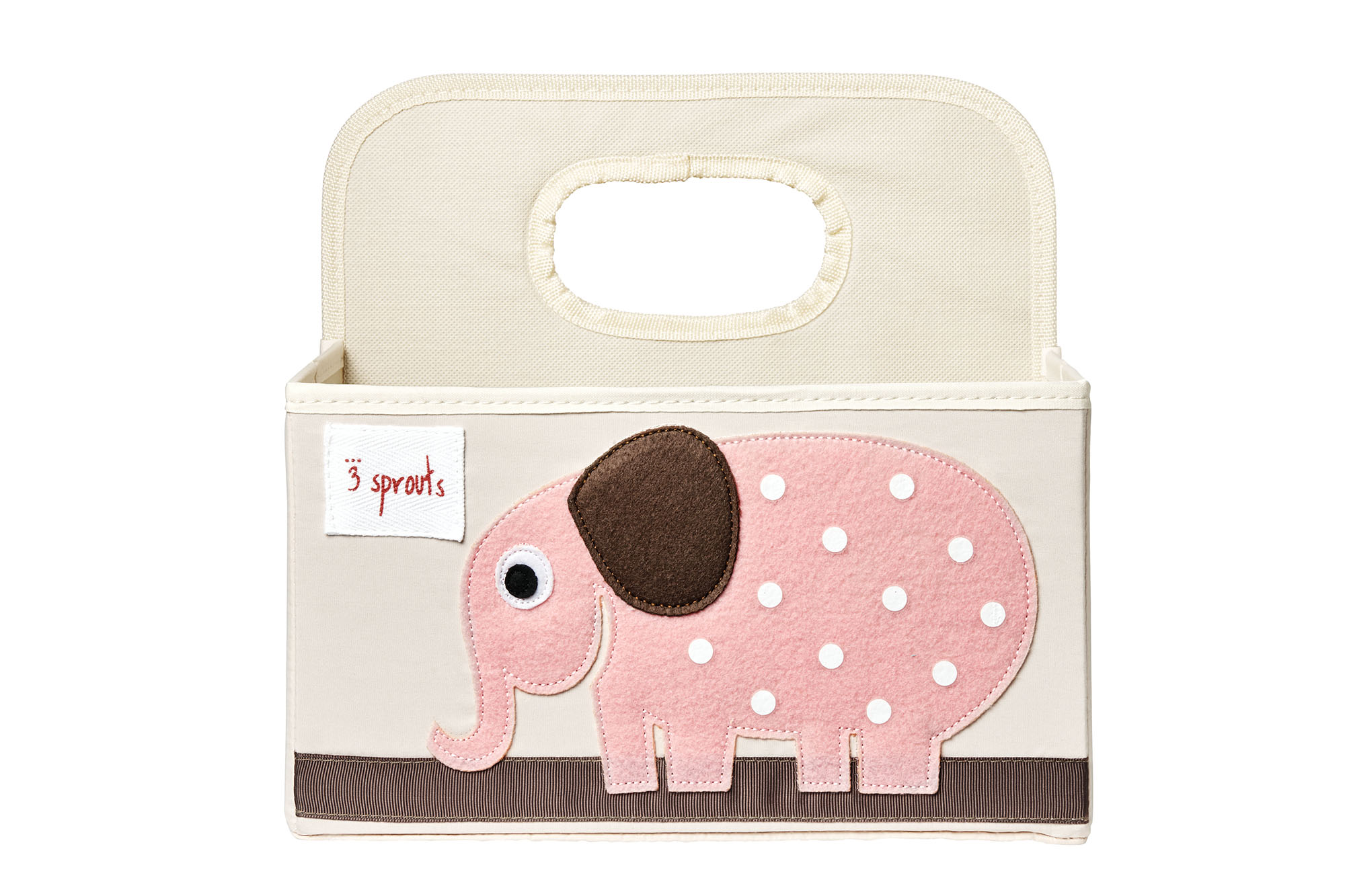 Bilde av 3 Sprouts - Diaper Caddy - Pink Elephant