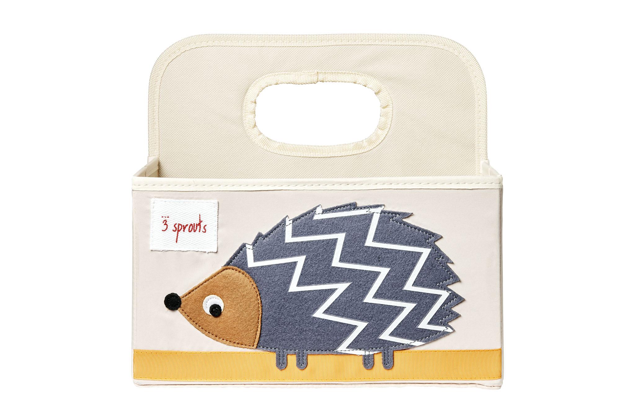Bilde av 3 Sprouts - Diaper Caddy - Grey Hedgehog
