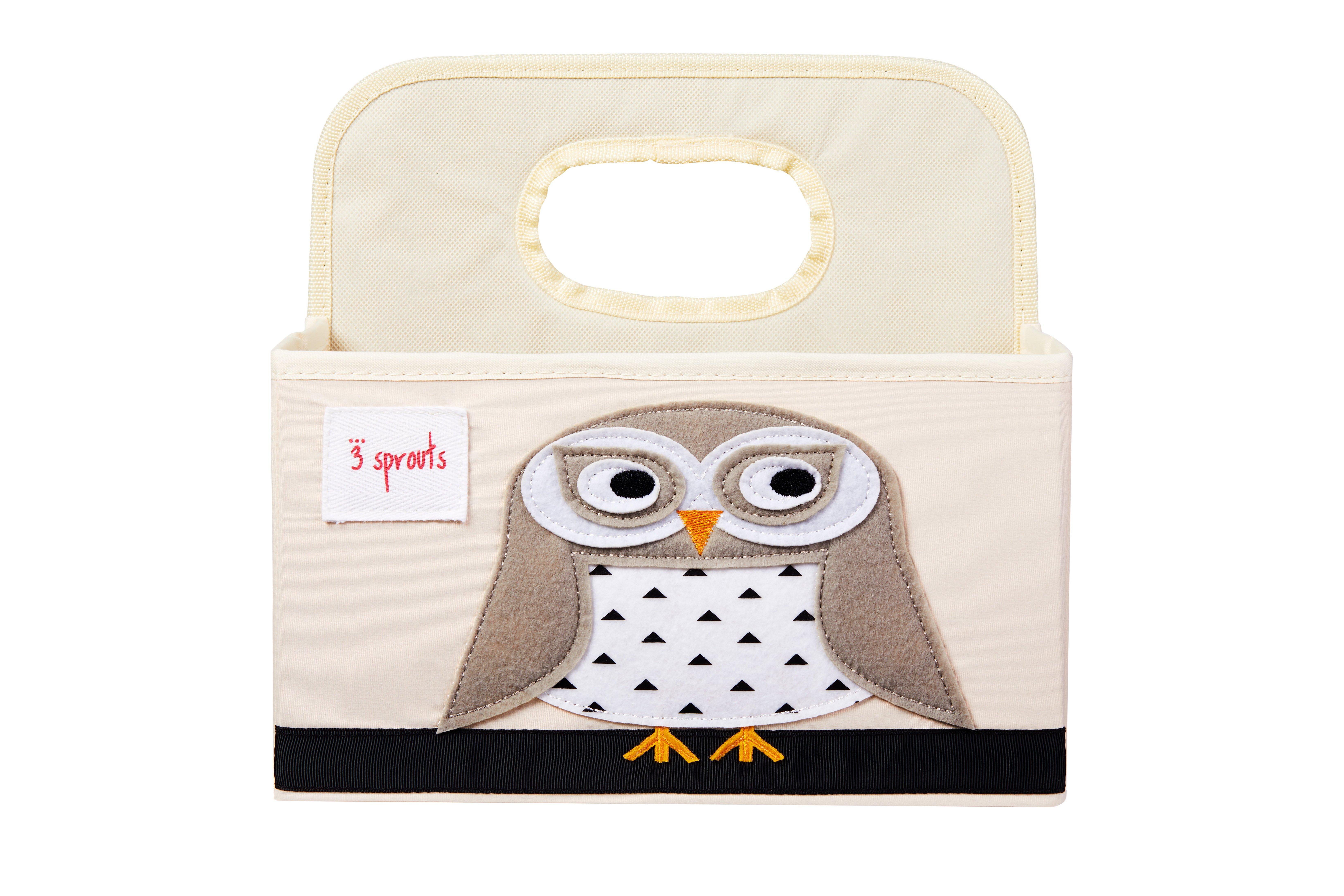 Bilde av 3 Sprouts - Diaper Caddy - White Owl