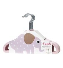 3 Sprouts - Bøjlesæt á 10 stk - Pink Elephant
