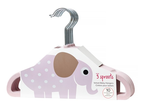 3 Sprouts - Hangers - Pink Elephant