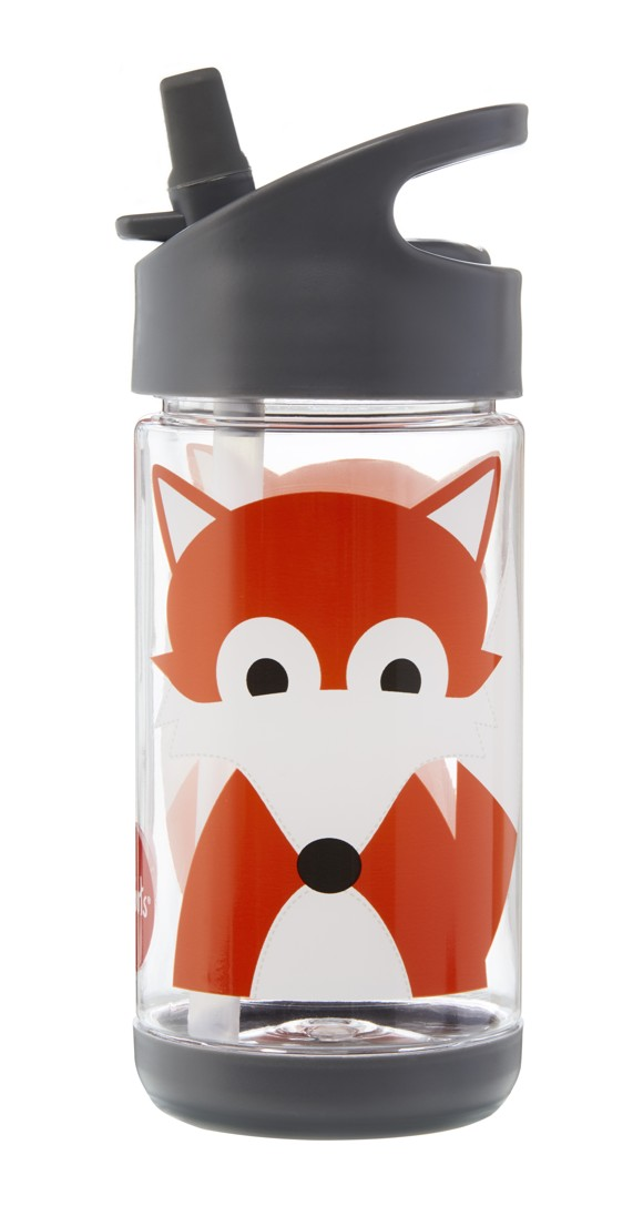 3 Sprouts - Water Bottle - Gray Fox