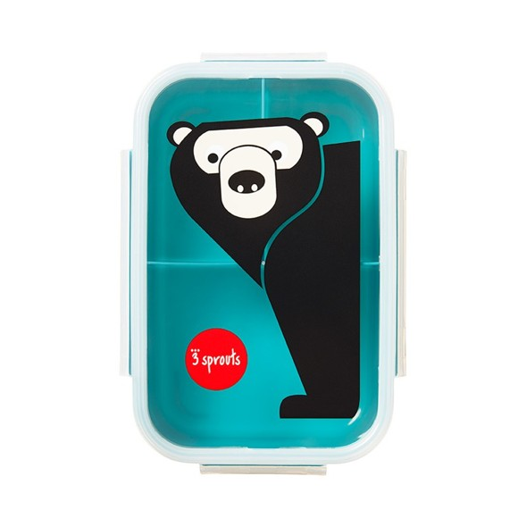 3 Sprouts - Bento Box - Teal Bear