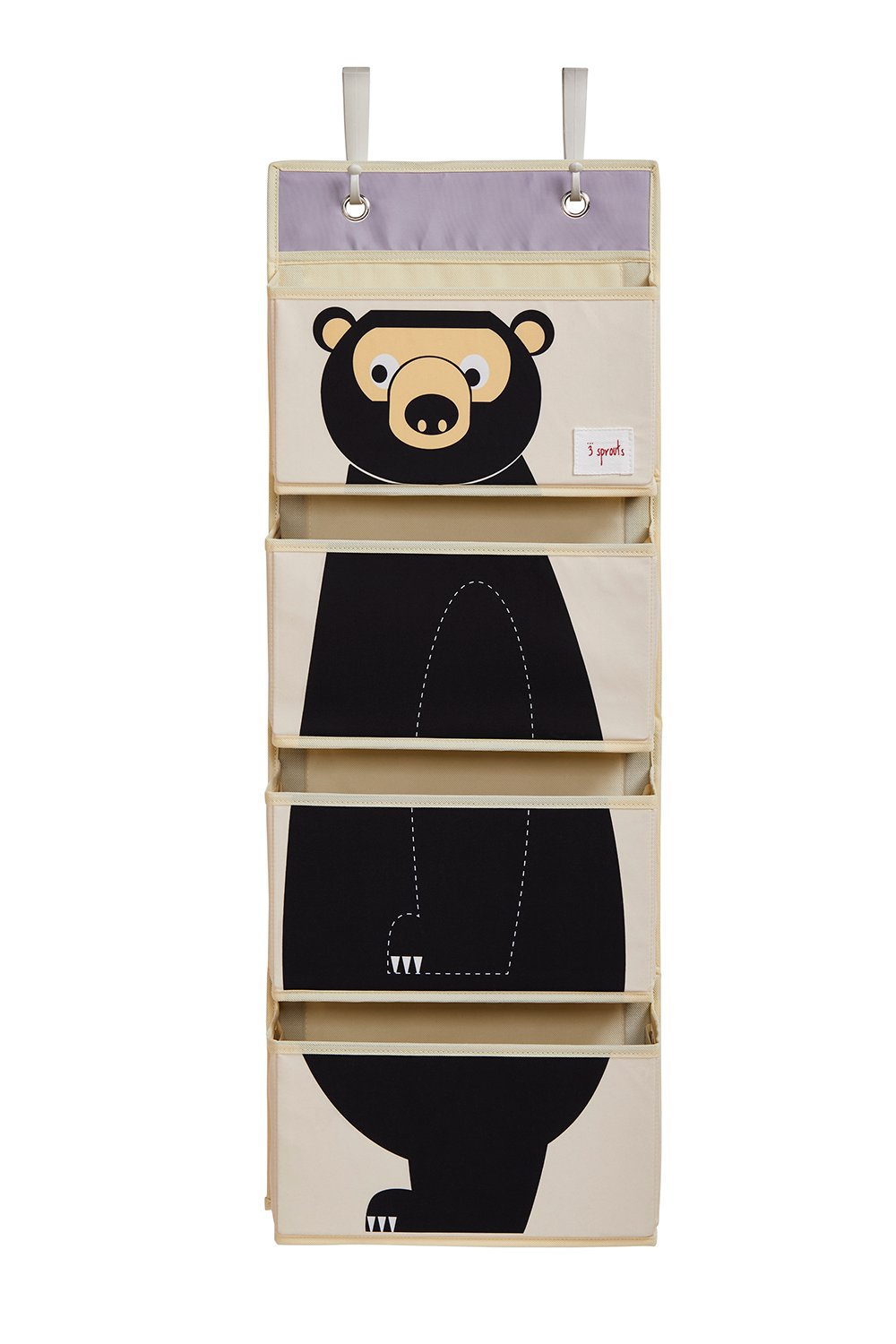 Bilde av 3 Sprouts - Hanging Wall Organizer - Black Bear