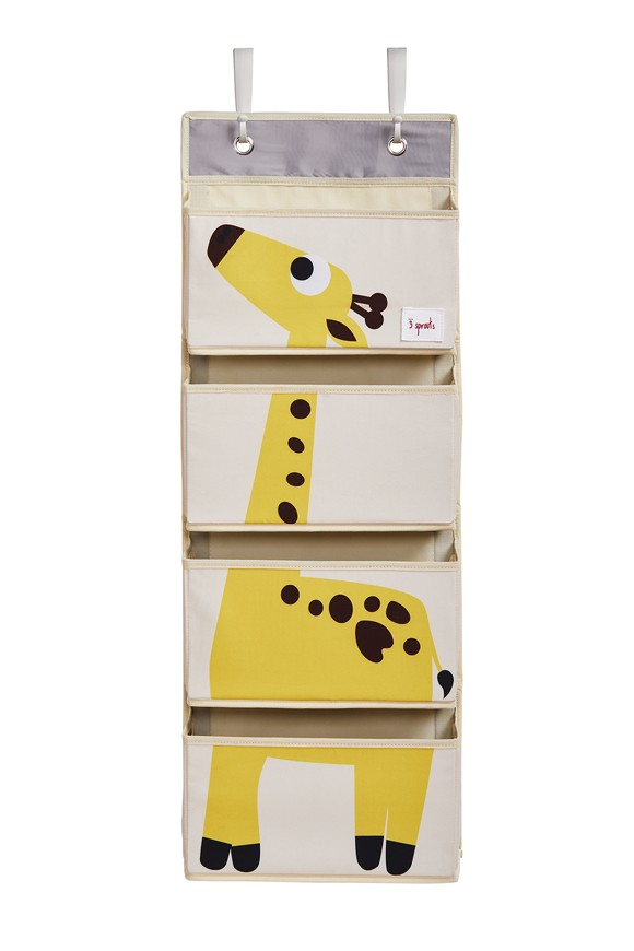 3 Sprouts - Hanging Wall Organizer - Yellow Giraffe