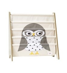 3 Sprouts - Book Rack - Gray Owl
