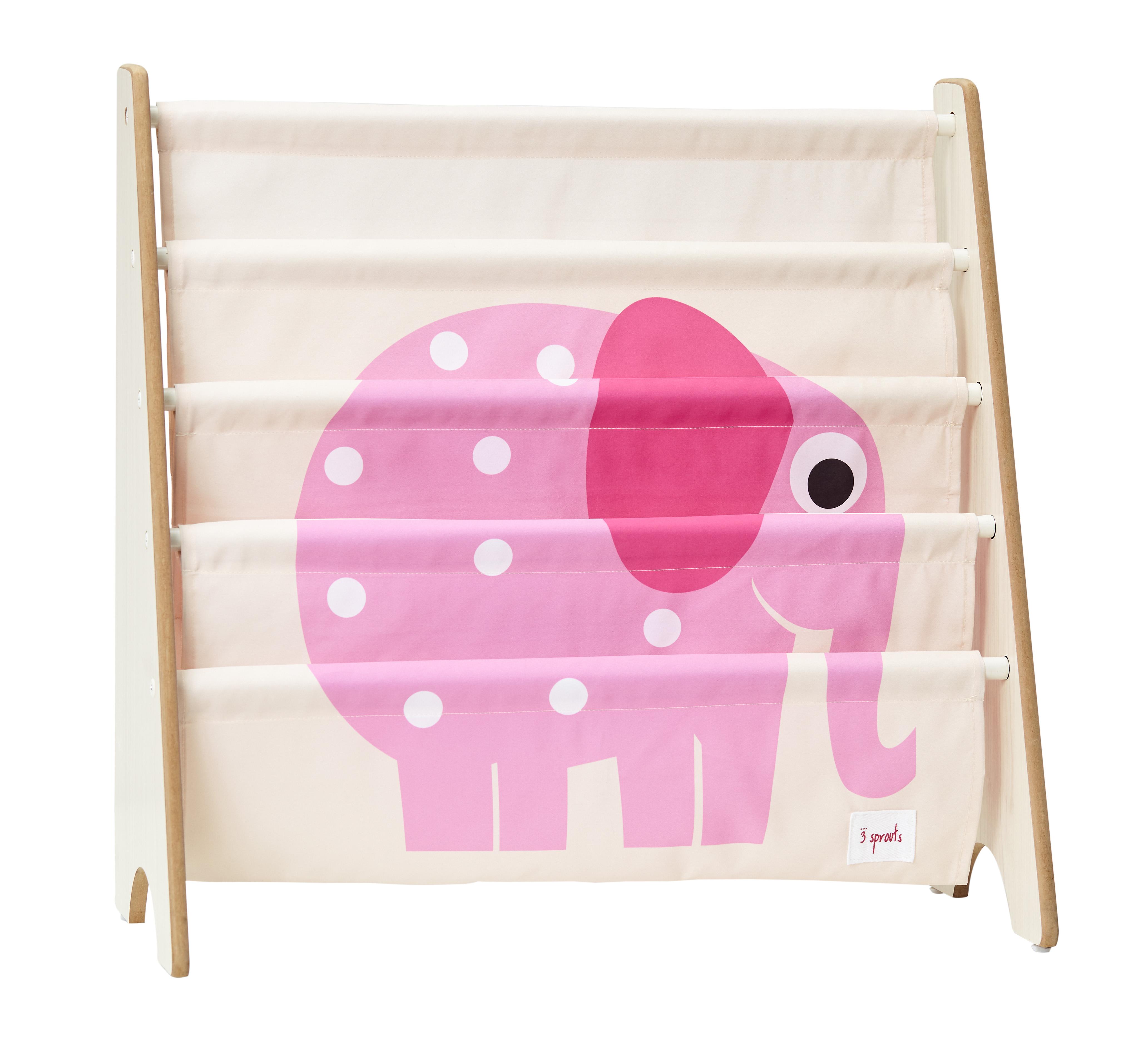 Bilde av 3 Sprouts - Book Rack - Pink Elephant