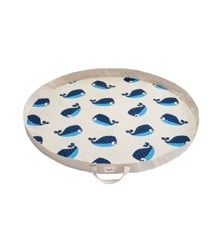 3 Sprouts - Play Mat Bag - Blue Whale