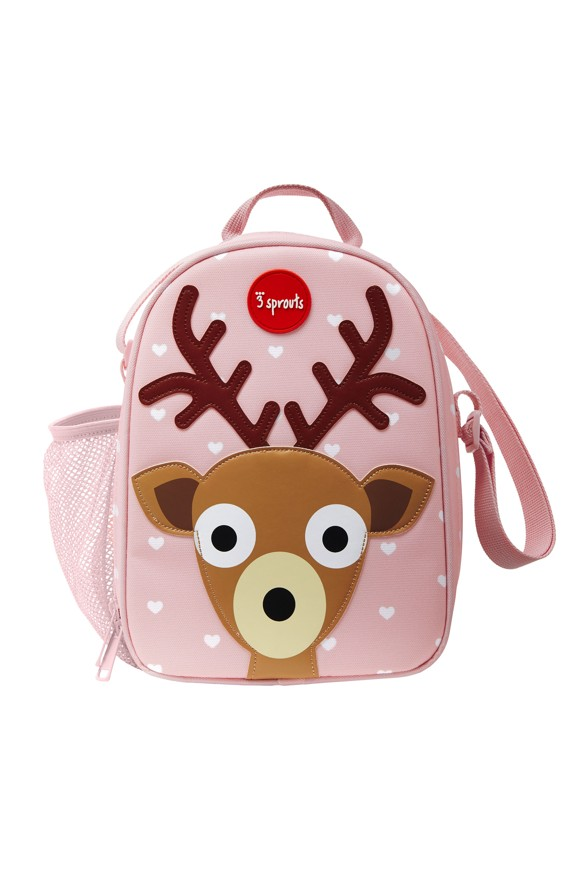 3 Sprouts - Lunch Bag - Pink Deer