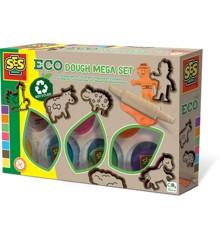 Ses Creative - Eco dough mega set (7x90gr with tools)