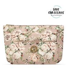 Gillian Jones - 3-rums Kosmetiktaske - Pink Blomster Print