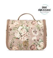 Gillian Jones - Cosmetic Hangup Bag - Pink Floral Print