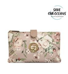 """Gillian Jones - """"THE WEEKENDER"""" Makeup Bag in Pink Floral Print"""