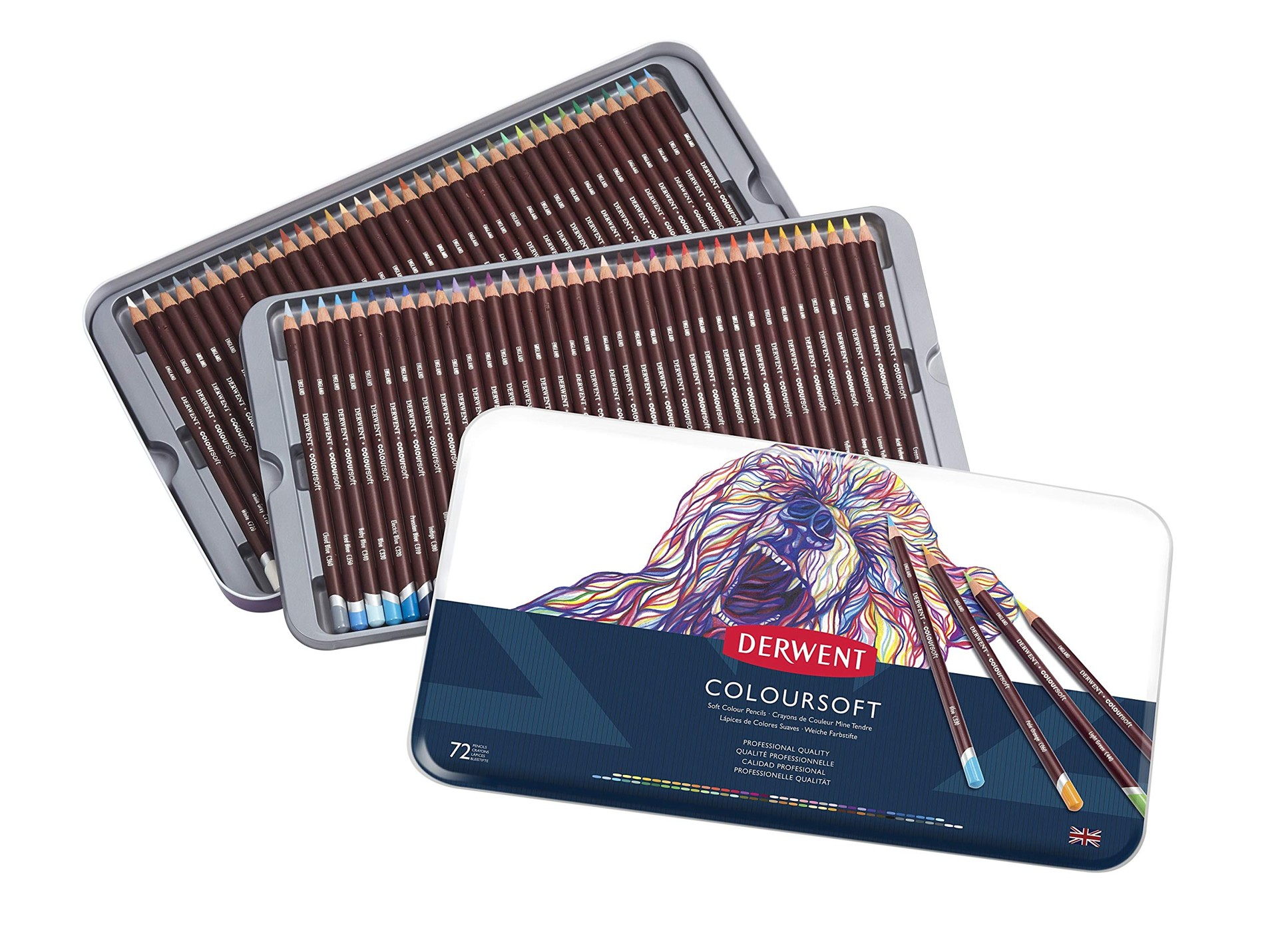 Derwent - Coloursoft Pencils, 72 Tin
