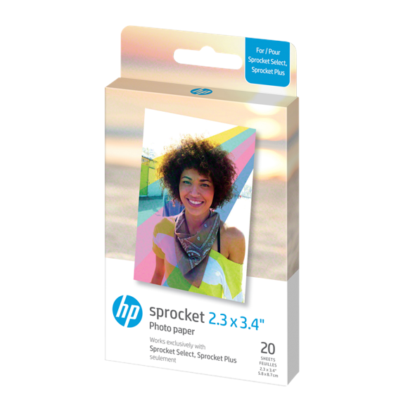 """HP - Zink Paper For Sprocket Select 20 Pack 2,3x3,4"""""""