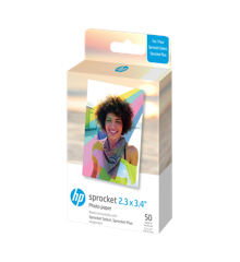 HP - Zink Paper For Sprocket Select 50 Pack 2,3x3,4""