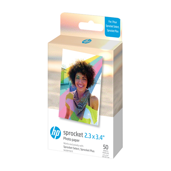 """HP - Zink Paper For Sprocket Select 50 Pack 2,3x3,4"""""""