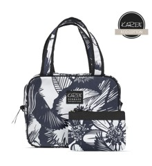 Karen - 2-piece Toiletry Bag Set w. Quilt - Blue & White Floral Print