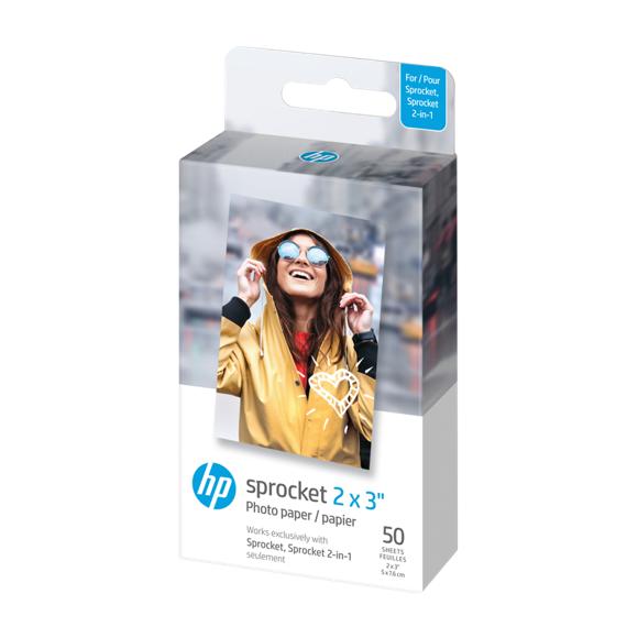 """HP - Zink Paper Sprocket For Luna 2x3"""" - 50 Pack"""