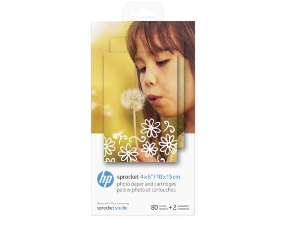 "HP - Cartridge Paper Sprocket For Studio 80 pack 4x6"""