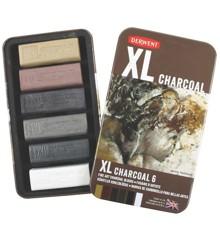 Derwent - XL Charcoal Blocks, 6 Tin