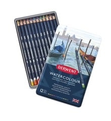 Derwent - Watercolour Pencils, 12 Tin