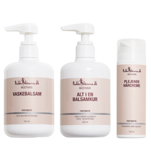 Pudderdåserne - All in One Shampoo 500 ml + All in One Conditioner/Mask 500 ml +  Nourishing Hair Cream 150 ml
