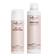 Pudderdåserne - All in One Styling Cream 150 ml + Dryshampoo 250 ml