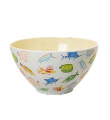 Rice - Melamine Salad Bowl - Fish Print