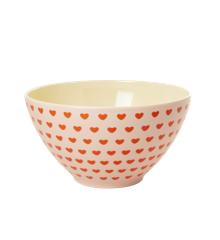 Rice - Melamine Salad Bowl - Sweetheart Print