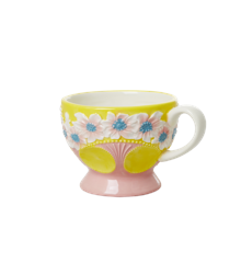 Rice - Ceramic Mug - Embossed Yellow Flower Design