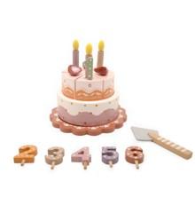 Magni - Fødselsdagkage i træ med musik og årstal