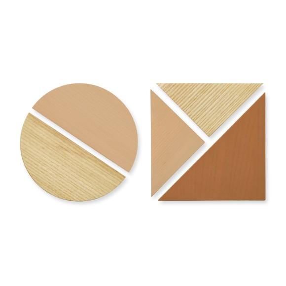 Nofred - Wooden Magnets Set - Sand
