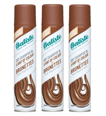 Batiste - 3 x Dry Shampoo Hint of Colour Medium Brunette 200ml