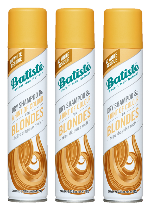 Batiste - 3 x Dry Shampoo Hint of Colour Light Blond 200 ml