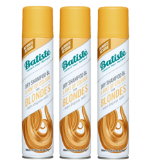 Batiste - 3 x Tørshampoo Hint of Colour Light Blond 200 ml