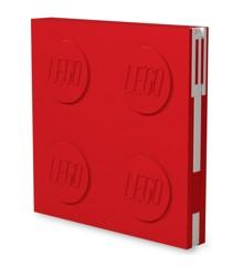 LEGO - Deluxe Notesbog med Kuglepen - Rød