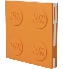 LEGO - Deluxe Notesbog med Kuglepen - Orange