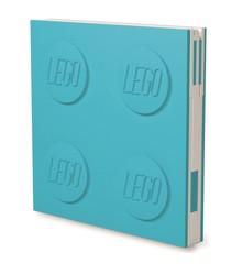 LEGO - Deluxe Notesbog med Kuglepen - Azur Blå